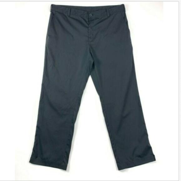 2807a79fb7e652 Nike Pants   Golf Drifit Black Casual Tech Flat Front 38   Poshmark